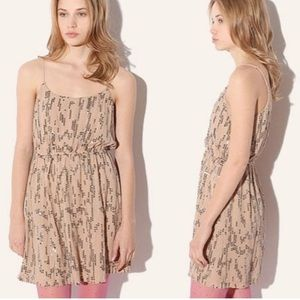 NWT Staring At Stars Nude sequin Drummers dress